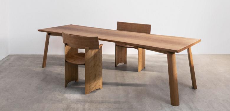 Stół i krzesła proj. Marii Jeglińskiej