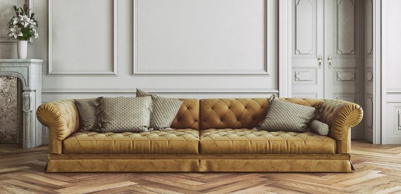 Pomieszczenie w stylu glamour