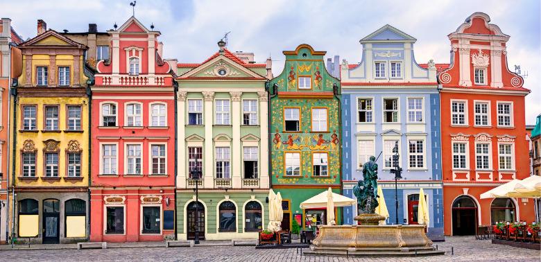 Widok starówki w Poznaniu