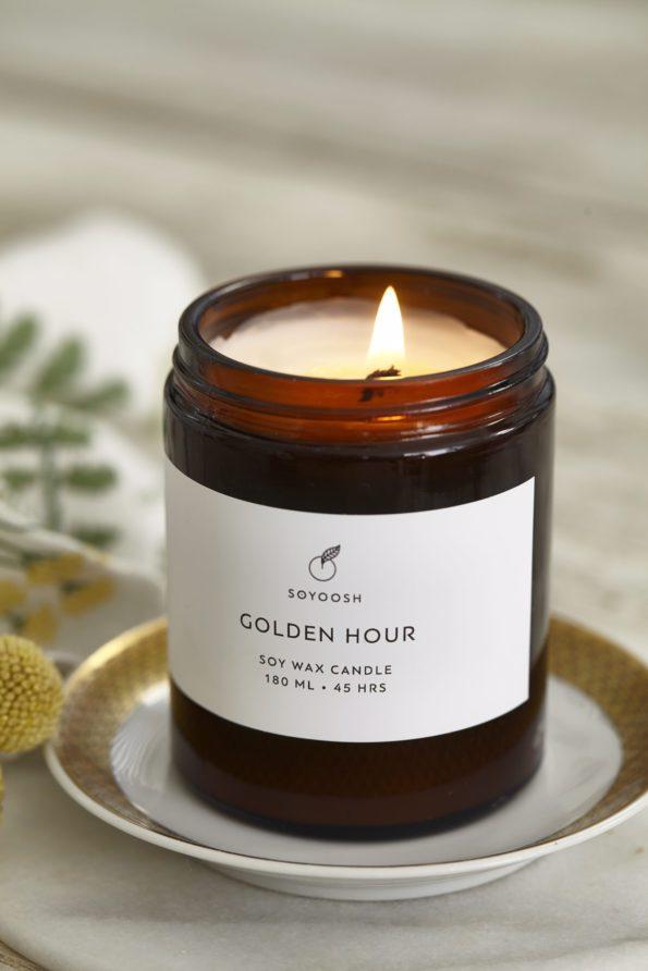świeca zapachowa golden hour