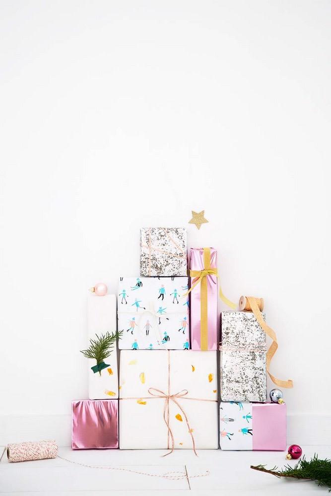 Choinka DIY z prezentów
