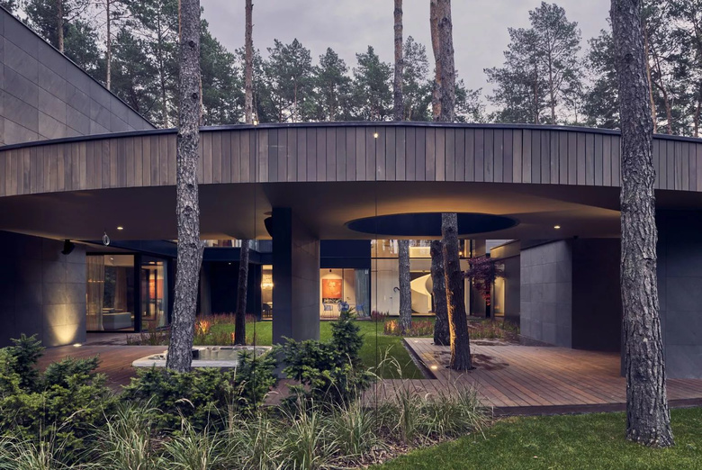 Circle Wood House Mobius Architekci