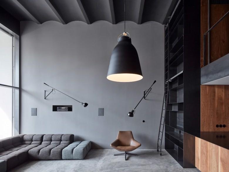 mieszkanie typu loft z antresolą