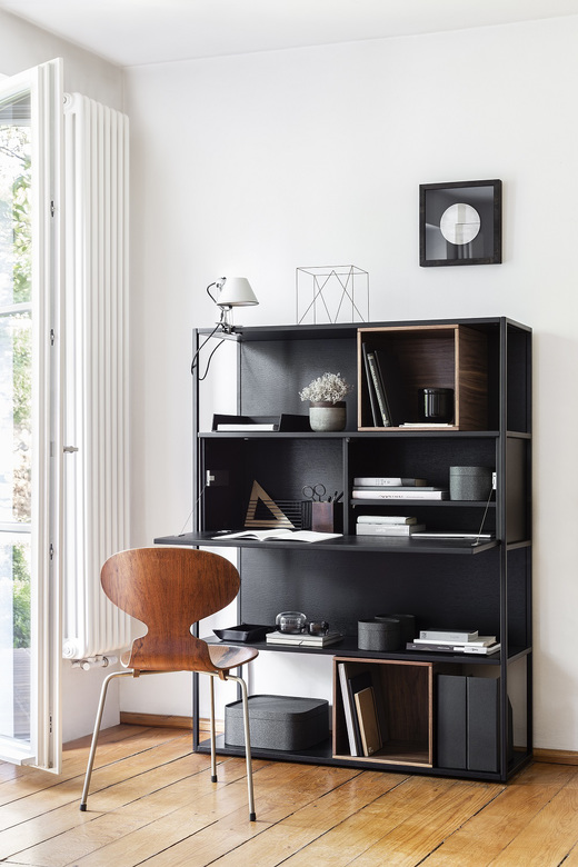 Balma Stepps biurko z półkami czarne