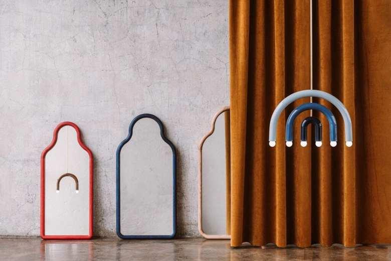 Lampy i lustra z serii TRN Pani Jurek, kolorowe