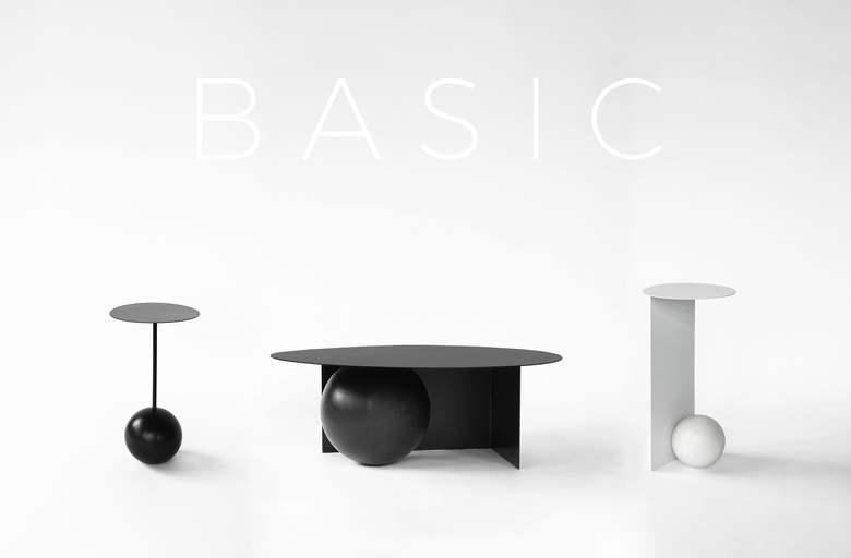SALAK BASIC stoliki kawowe z kulą
