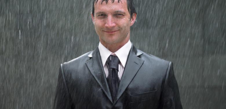 Deszczowy klient i notes uwag