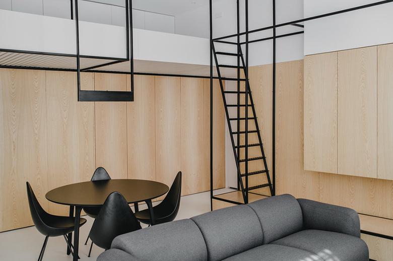 Mieszkanie w stylu loftowym. Salon