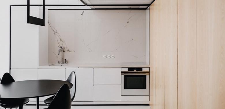 Małe mieszkanie w stylu loftowym
