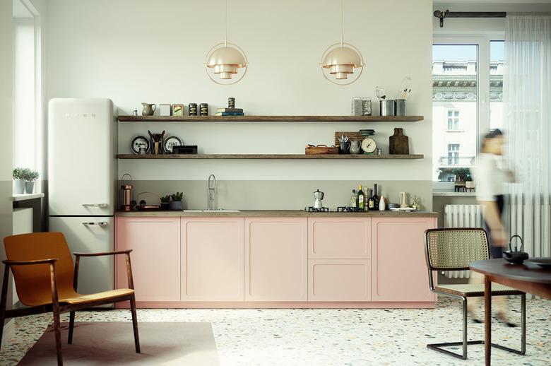 Fronty do szafek IKEA, pastelowe retro
