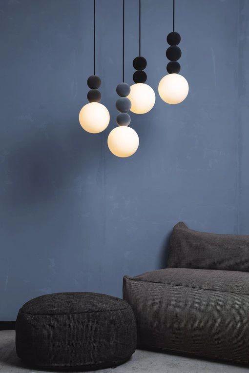Lampy wiszące Bola-bola-velvet