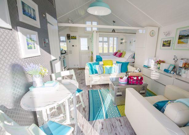 chatka na plaży w Dunster