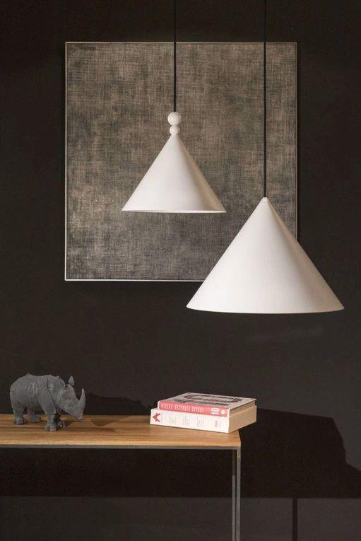 Lampy wiszące Konko i Konko-light białe
