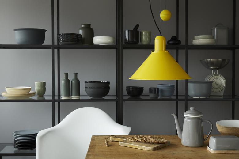 Lampa TAR Reflex stożek żółta