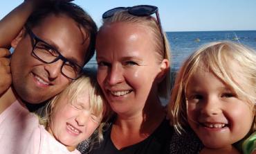 Aneta Sakowicz z rodziną