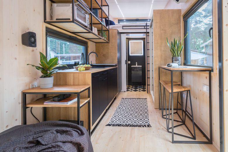 Domek tiny house wyposażenie