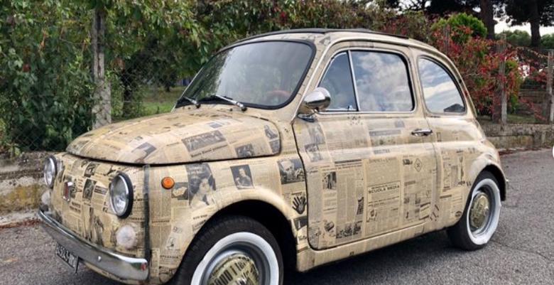Oklejony Fiat