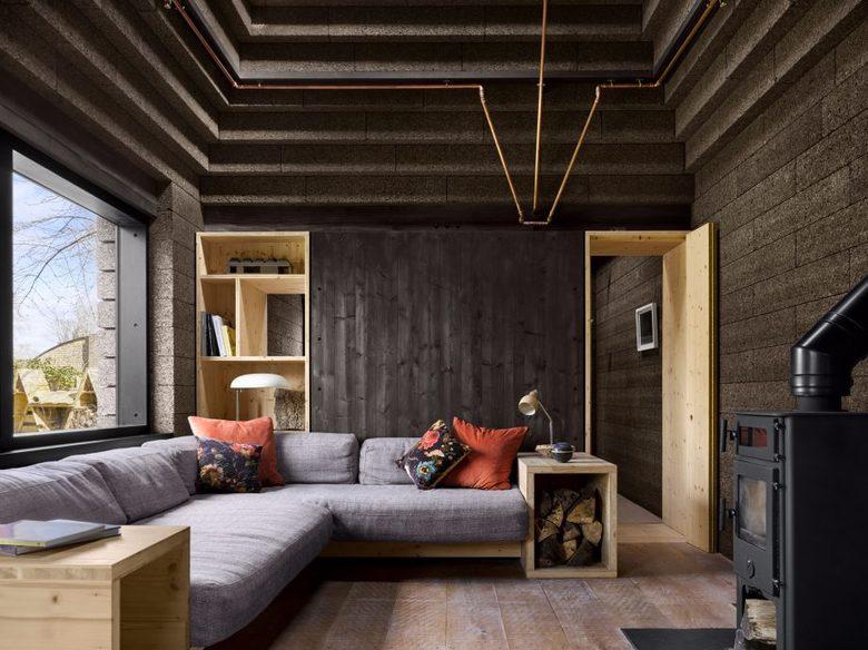 Cork House - wnętrze, salon