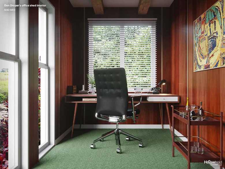 Wnętrze biura Dona Drapera