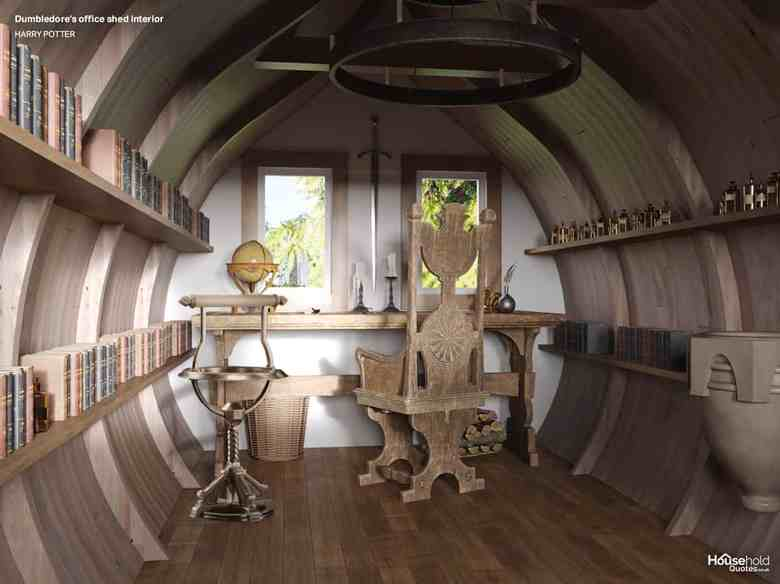 Wnętrze domku jak z Harrego Pottera