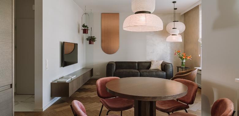 warszawskie mieszkanie w stylu japandi