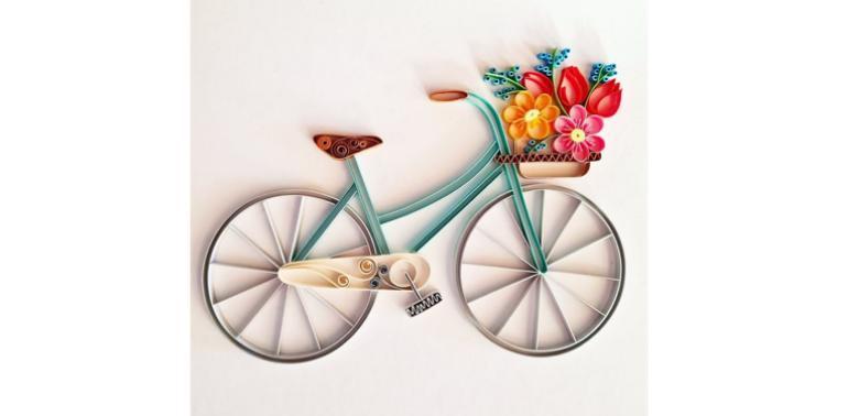 rower z papieru