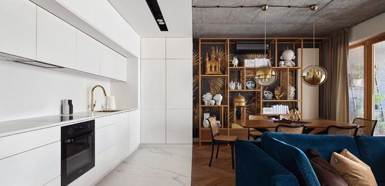 Geometry apartment w Krakowie Blackhaus