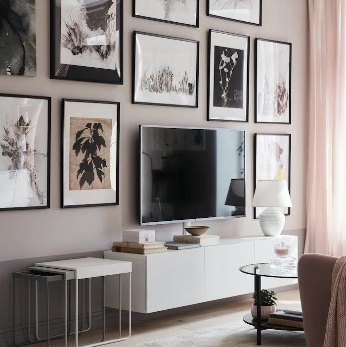Ściana TV - galeria ścienna