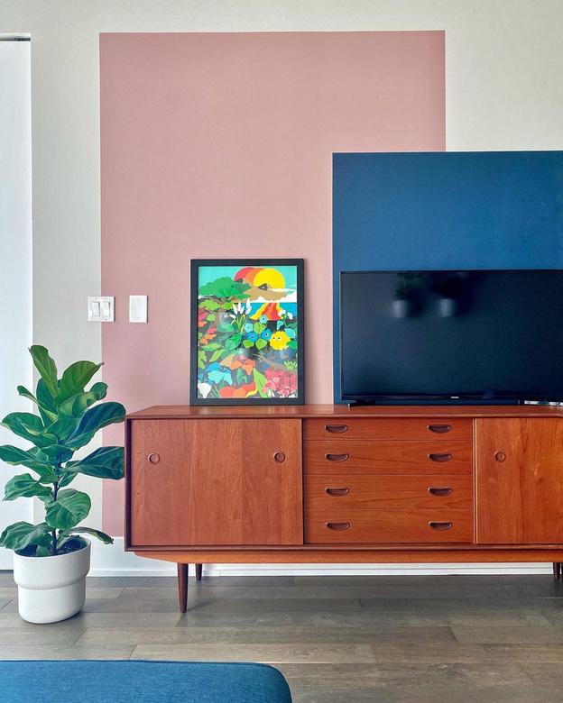 Ściana telewizyjna - blokowanie kolorów