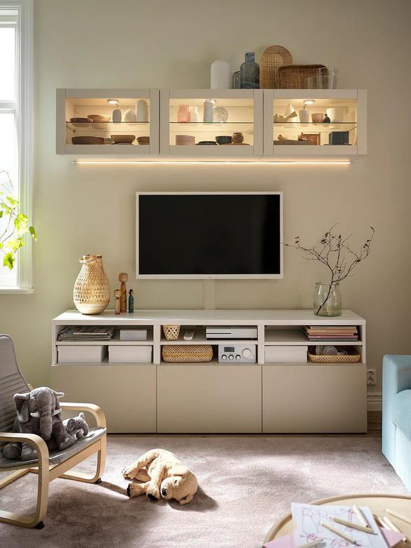 Ściana telewizyjna - meble IKEA
